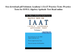 Free Aptitude Test Online Free Download Pdf Solomon Academys Iaat Practice Tests Practice Tes