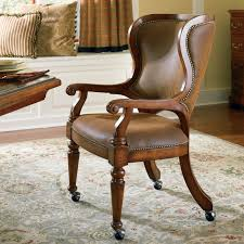 image of dining chairs with casters arms