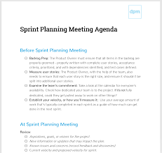 Planning Meeting Agenda Template How To Run A Sprint Planning Meeting Like A Boss Meeting