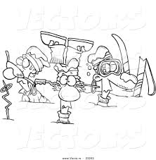 Crash clipart skier pencil and in color crash clipart skier