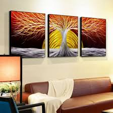 china 3d metal trees oil painting