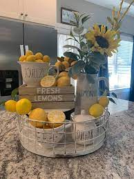 Little Lemonade Stand In The Kitchen Spring Lemon Kitchen Decor Lemon Decor Summer Kitchen