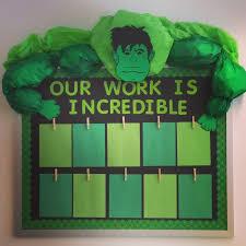 superhero clroom bulletin board