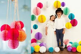 6 8 15 20cm paper honeycomb flower ball party stage canopy