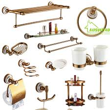 Copper Bathroom Accessories Sets Popular Brass Bathroom Accessories Set Buy Cheap Brass Bathroom