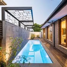 Small rectangular pool designs Tropical Mini Resort Example Of Small Trendy Side Yard Rectangular Lap Pool Design In Melbourne With Decking Houzz 75 Most Popular Small Pool Design Ideas For 2019 Stylish Small