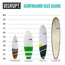 Surfboard Chart Size Guides Disrupt Sports