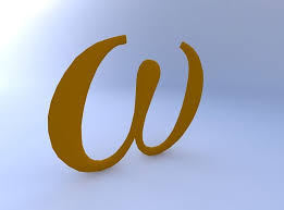 greek letter omega 3d model