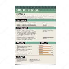 Resume Template Cv Creative Background Stock Vector Marchi