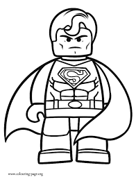 Small Picture The Lego Movie Superman coloring page