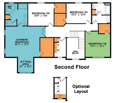 Two Story Home Plan   Meridian   Bed   Bath   sq ft The meridian second floor   two story home plan
