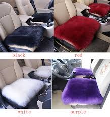 wool car interior seat cover fluffy faux sheepskin cushion pad