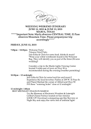 Top Samples Wedding Itinerary Templates Free To Download In