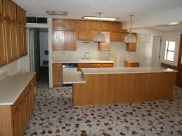 image of unique design mosaic flooring kitchen