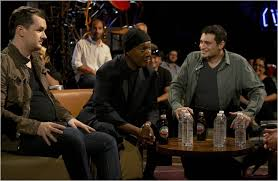 the green room hosted by paul provenza far right is a new showtime talk show featuring comedians like jim jefferies left and paul mooney