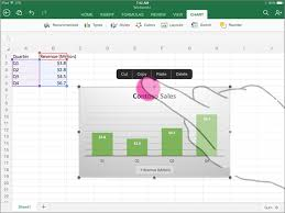 How To Copy And Paste A Chart Insert A Chart In Powerpoint Or Word On A Mobile Device