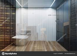 Grau Weiß Gefliestes Badezimmer Badewanne Dusche Getönt
