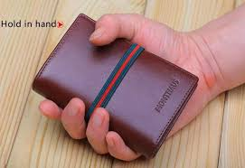 new genuine italian leather business card credit card holder case wallet cover for women protector lady men