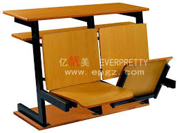 school furniture university study desk and chair college folding chair