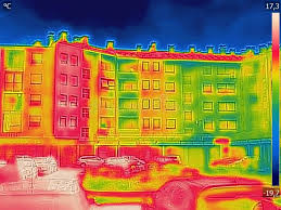 Detecting Heat Loss Outside Building Stock Image - Image of recording,  comparison: 137761681