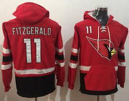 Red Fitzgerald 11 Arizona Hoodie 2014 Larry Cardinals