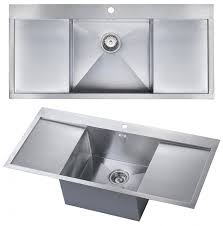 Elegant Large Single Bowl Kitchen Sink With Drainer The 1810 ...