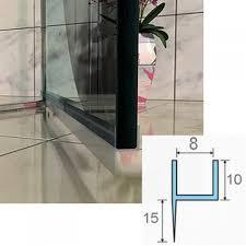 pvc plastic showerscreen shower screen door water seal strip lining for 6 8mm glass