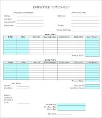 Excel Time Sheets Templates Timesheet Template Xls