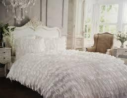 duvet cover only shabby white satin ruffle single bed petticoat doona duvet