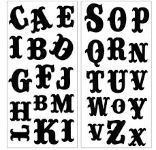 Letters In Design 3d Temporary Tattoo Sticker Beautiful Black Color Bold