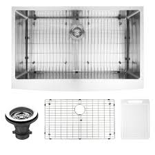 vigo farmhouse a front stainless steel 36 in single bowl kitchen sink with grid and