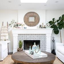 Decorative Tile For Fireplace 100 Stunning Fireplace Tile Ideas for your Home White tiles 2