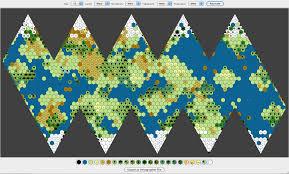 icosahedral world map generator