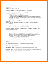 Research Essay Outline Template 2018 Printables Corner Mla Example