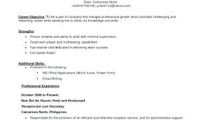 Writing A Good Objective For A Resume Effective Objective For Resume Wikirian Com