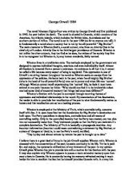 example of essay on by george orwell stage two english george orwell nineteen eighty four essay mr m