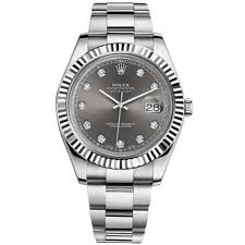 rolex datejust ii automatic diamond rhodium dial stainless steel prev