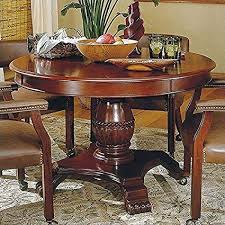 steve silver tournament 48 wood round cal dining table in cherry finish