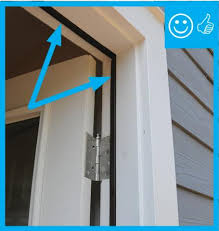 exterior door gasket. right \\u2013 weather stripping has been installed and remains in contact once door is closed exterior gasket