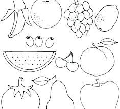 Printable Fruits And Vegetables Coloring Pages Pictures Of Fruits