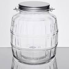 this anchor hocking 85728ahg17 1 gallon barrel jar with lid is the perfect for your cafe restaurant bakery or candy