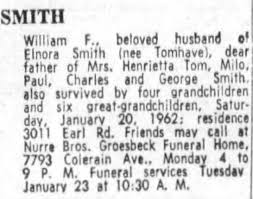 Obituary for William F. SMITH - Newspapers.com