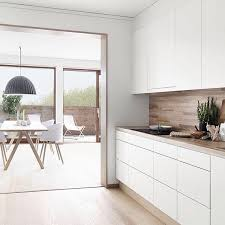 interior design kitchen white. Imogen På Instagram: \u201cWhite + Wood Kitchen Inspo For #folkhem Styled By @ Interior Design White W
