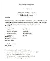 Housekeeper Resume 17 Executive Housekeeper Resume