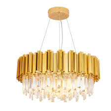 Luxury Crystal Chandelier Light Gold Crystal Lighting Fixtures Cristal Lustres Luminaire For Dining Living Room Restaurant Lamp