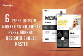 6 Types Of Print Marketing Materials Every Graphic Designer