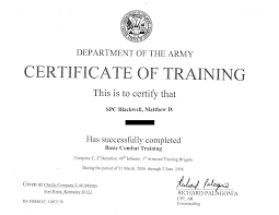certificate of promotion template training certificate blank template army of us templates popular