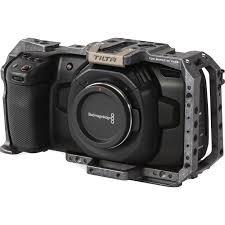 Blackmagic Design Pocket Cinema Tilta Full Camera Cage For Blackmagic Design Pocket Cinema Camera 4k 6k Tactical Gray