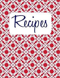 Printable Recipe Book Cover Template Best Tatilvillam Co