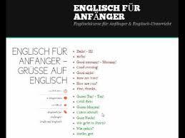 anfänger englisch